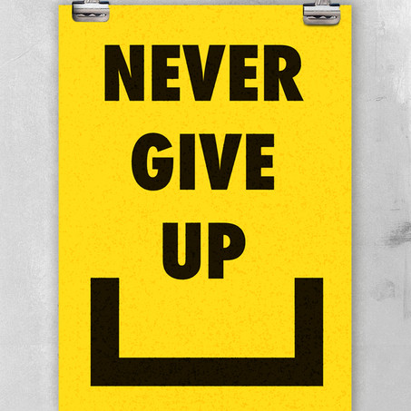 Never Give Up - Yellow