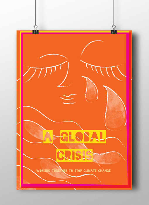 Global Crisis Poster orange