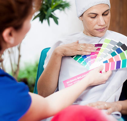 consultoria de estilo, análise cromática, análise de coloração pessoal