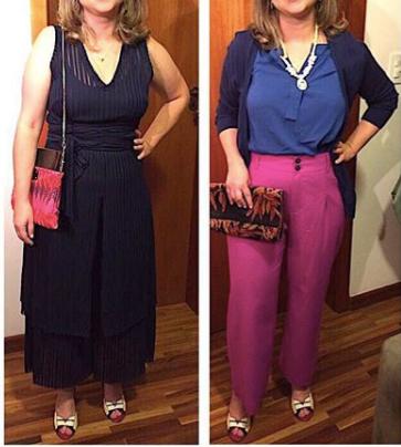 Cliente Cynthia e suas novas roupas de tecido plano