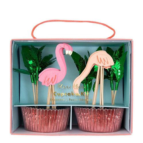 Meri Meri Flamingo Cupcake Kit Pack of 24
