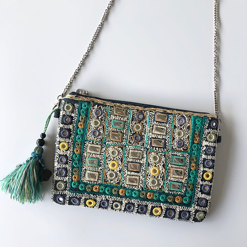 Beaded and embroidered purse/clutch