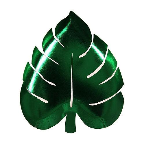 Meri Meri Tropical Jungle Palm Leaf Plate Pack of 8