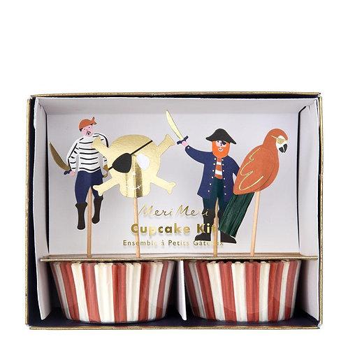Meri Meri Pirates Bounty Cupcake Kit Pack of 24
