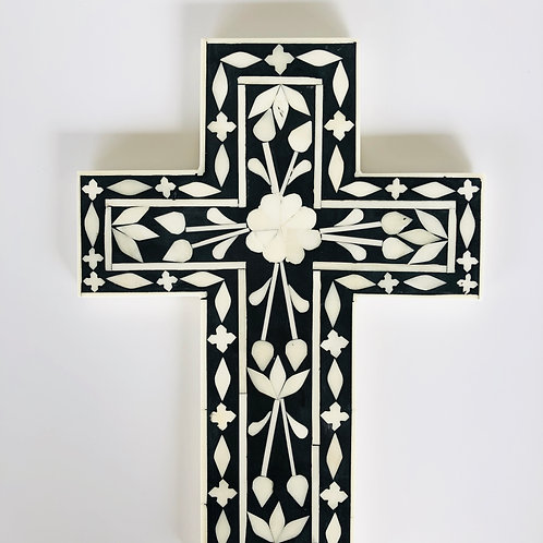 Shell inlay large decorative cross