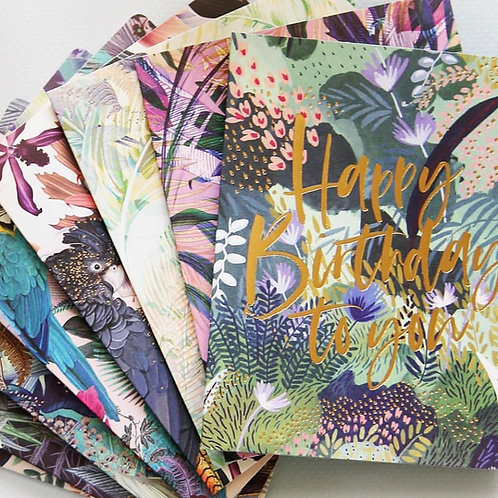 Bespoke Letter Press Jungle Card