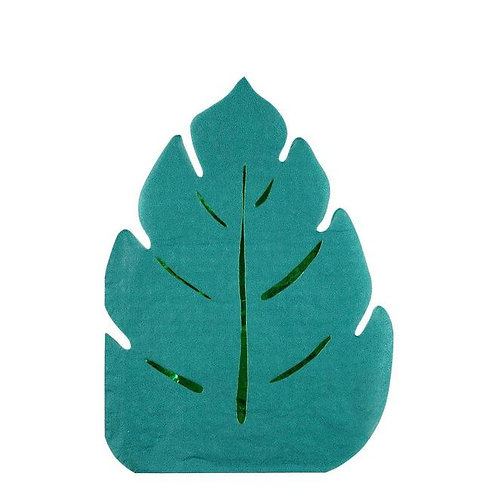 Meri Meri Tropical Jungle Palm Leaf Napkins Pack of 16