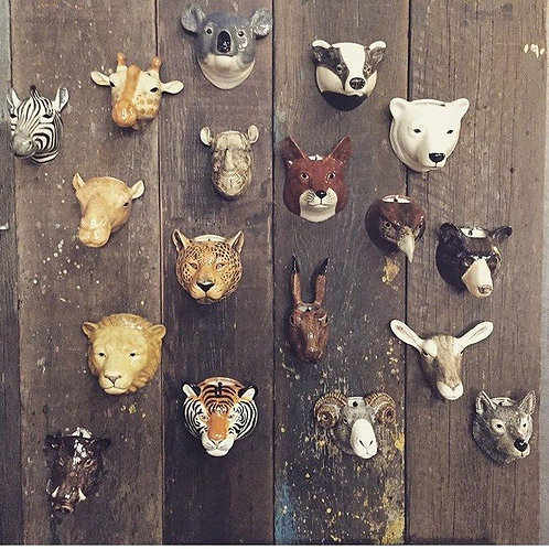 Ceramic Animal Wall Vase
