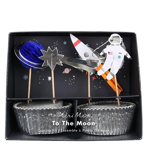 Meri Meri To the Moon Space Cupcake Kit Pack of 24