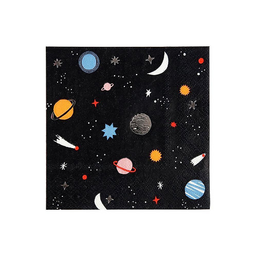 Meri Meri To the Moon Space Large Napkins Pack of 16