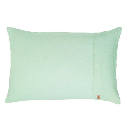 Kip & Co Spray Mint Linen Pillowcases 2P Set