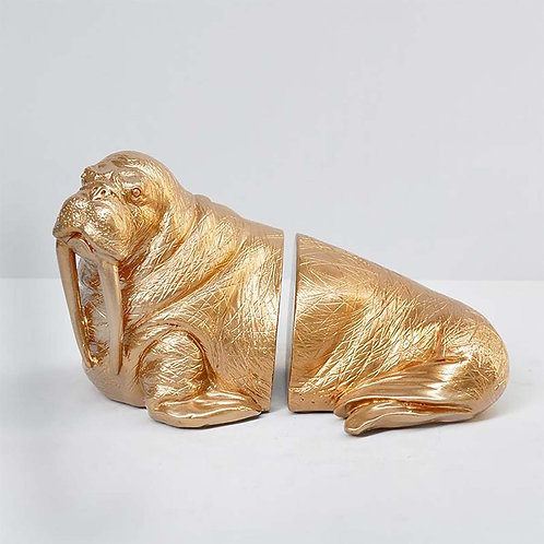 Walrus Gold Bookends