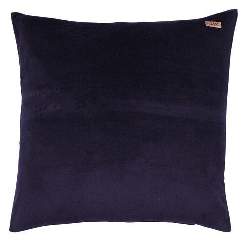 Kip & Co Navy Velvet Euro Sham Pillowcase