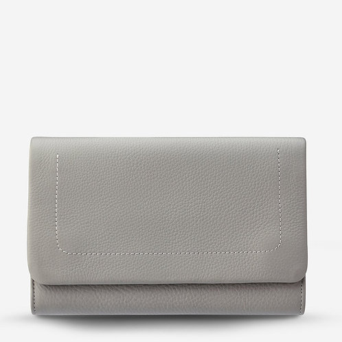 Status Anxiety Remnant Large Wallet Light Grey