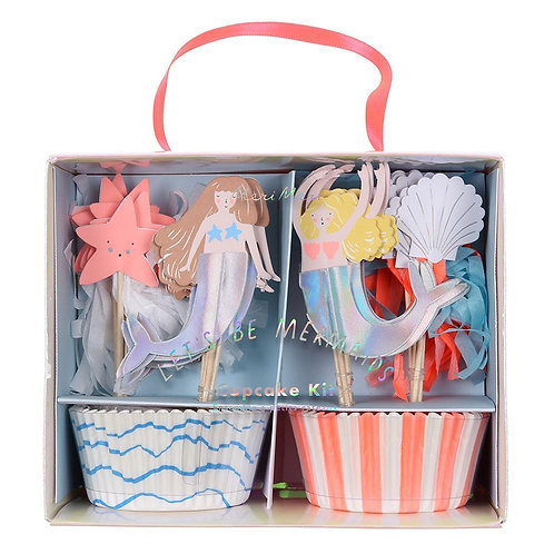 Meri Meri Let's Be Mermaids Party Cupcake Kit Pack of 24