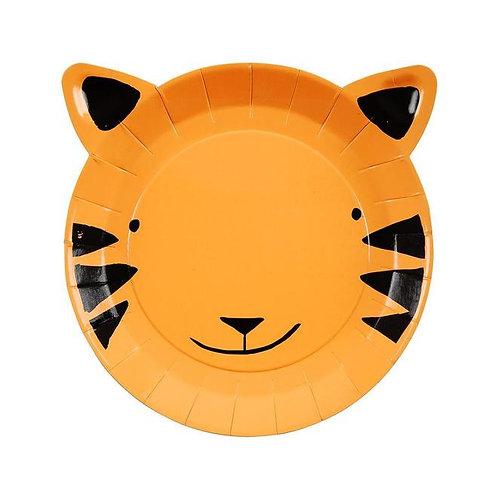 Meri Meri Go Wild Jungle Tiger Plates Small Pack of 12