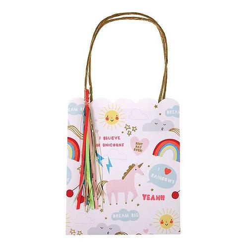 Meri Meri Rainbow and Unicorn Party Bags Pack of 8