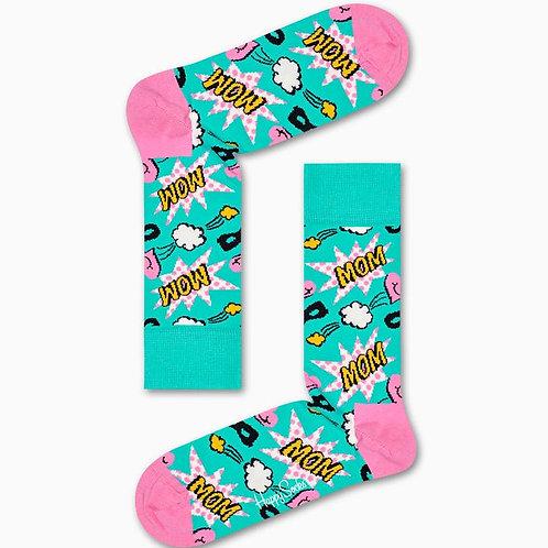 Happy Socks Turquoise Mom Socks
