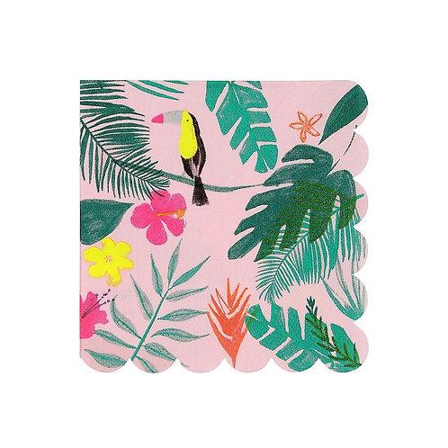 Meri Meri Pink Tropical Jungle Small Napkins Pack of 20