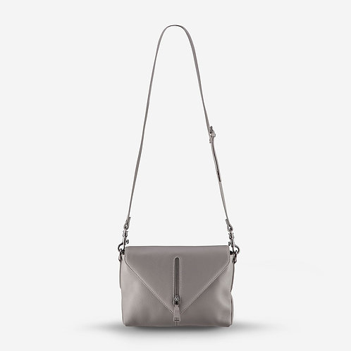 Status Anxiety Exile Leather Handbag Light Grey