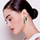 Thumbnail: Moe Moe Design Layered Big Triangle Stud Earrings Khaki Leopard