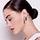 Thumbnail: Moe Moe Design Layered Big Triangle Stud Earrings Khaki Leopard