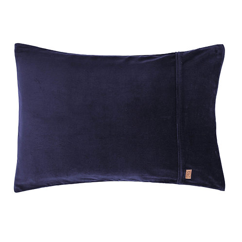 Kip & Co Navy Velvet Pillowcases 2P Set