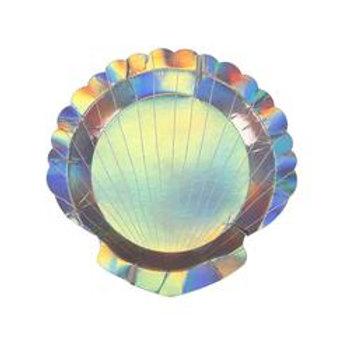Meri Meri Mermaid Shell Party Plates Pack of 8
