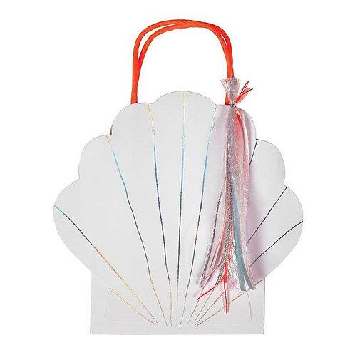 Meri Meri Mermaid Shell Party Bags Pack of 8