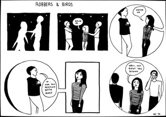 """ROBBERS AND BIRDS: Sleeping"" by Rebecca Clingman"