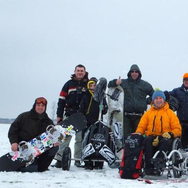 Snowkite crew