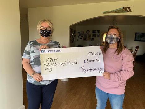 Tanya raises £5,000 for NIPANC