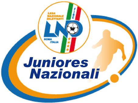 Juniores Nazionale, risultati e classifica dopo la giornata odierna