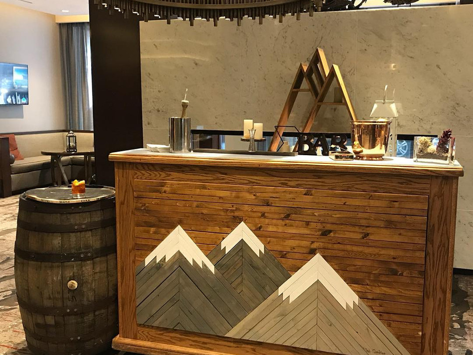 Mountain Themed bar