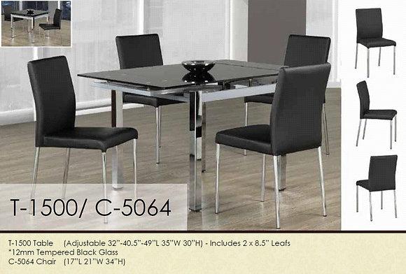 Table à Dîner ajustable+4 chaises