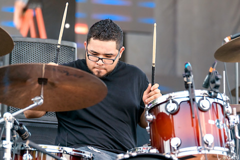 Jason Barocio, 8/03/2019, 8/17/2019, August 17 2019, August 3 2019, Austin, band, band member, Brushy Creek Amphitheater, concert, Denise Enriquez, drum, drummer, drums, Hard Livin Band, Hutto, Hutto Park at Brushy Creek, KOKE Fest 2019, live music, New Braunfels, percussion, percussionist, photography by deni, Randall King Band, Texas, Texas Country, tour, Whitewater Amphitheater, deni