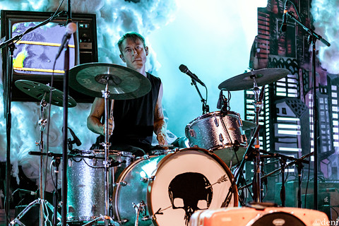 08/24/19, Alejandro Rose-Garcia, August 24 2019, band, band member, Chris Boosahda, concert, Denise Enriquez, drum, drummer, drums, Guadalupe River, Jon Shaw, live music, New Braunfels, Patrick O'Connor, percussion, percussionist, photography by deni, Shakey Graves, Texas, tour, Whitewater Amphitheater, deni