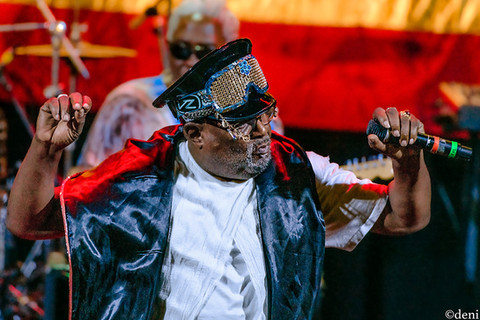 George Clinton, vocals, vocalist, singing, singer, songwriter, Aztec Theater, San Antonio, Texas, August 23 2019, featuring The P-Funk All Stars, concert, live music, tour, funk, funkadelic, Denise Enriquez, photography by deni, deni