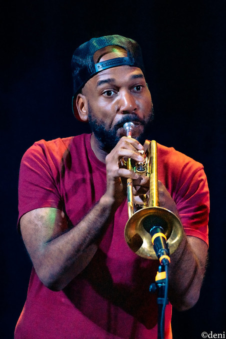 Ryan Nyther, Dumpstaphunk, Aztec Theater, San Antonio, Texas, 08/23/2019, August 23 2019, trumpet, trombone, horn, brass, One Nation Under A Groove, funk, band member, tour, concert, live music, Denise Enriquez, photography by deni, deni