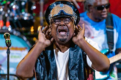 George Clinton, vocals, vocalist, singing, singer, songwriter, Aztec Theater, San Antonio, Texas, August 23 2019, featuring The P-Funk All Stars, concert, live music, tour, funk, funkadelic, Denise Enriquez, photography by deni, deni
