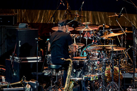 Phil 'Fish' Fisher, Fishbone, Aztec Theater, San Antonio, Texas, 08/23/2019, August 23 2019, drum, drums, drummer, percussion, percussionist, One Nation Under A Groove, funk, band member, tour, concert, live music, Denise Enriquez, photography by deni, deni