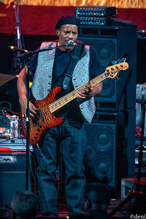 Tony Hall, Dumpstaphunk, Aztec Theater, San Antonio, Texas, 08/23/2019, August 23 2019, bass, bassist, bass guitar, bass player, One Nation Under A Groove, funk, band member, tour, concert, live music, Denise Enriquez, photography by deni, deni