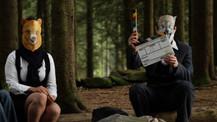Noen ganger må regissør både være skuespiller og klipper. Opptak til kortfilmen EscAPE.