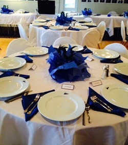 Formal Dinner Table Arrangement with