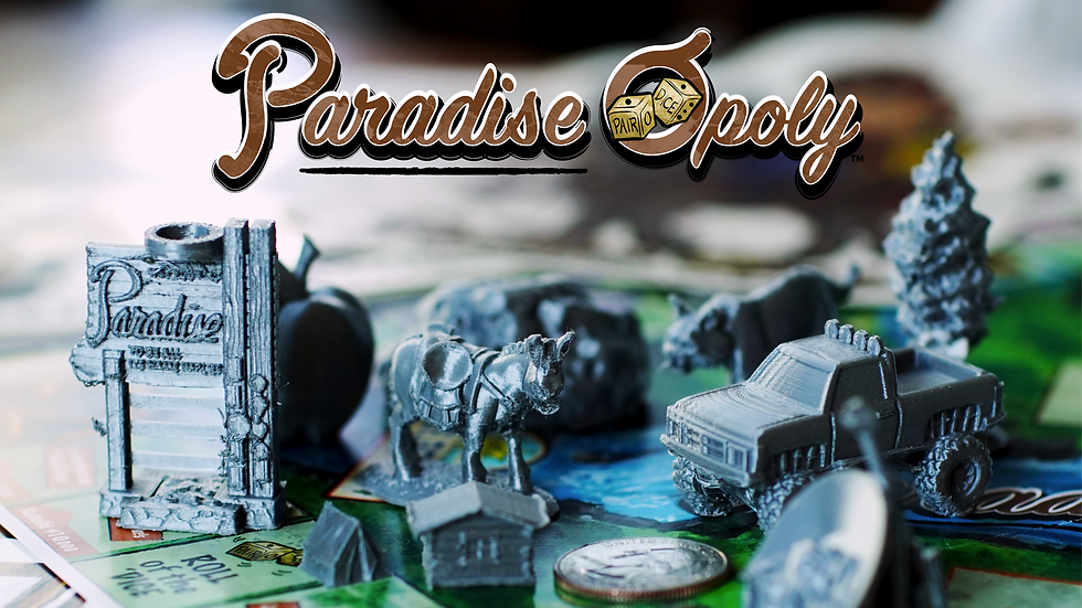 3D Files for Paradise-Opoly Game Pieces(Pre-Order)