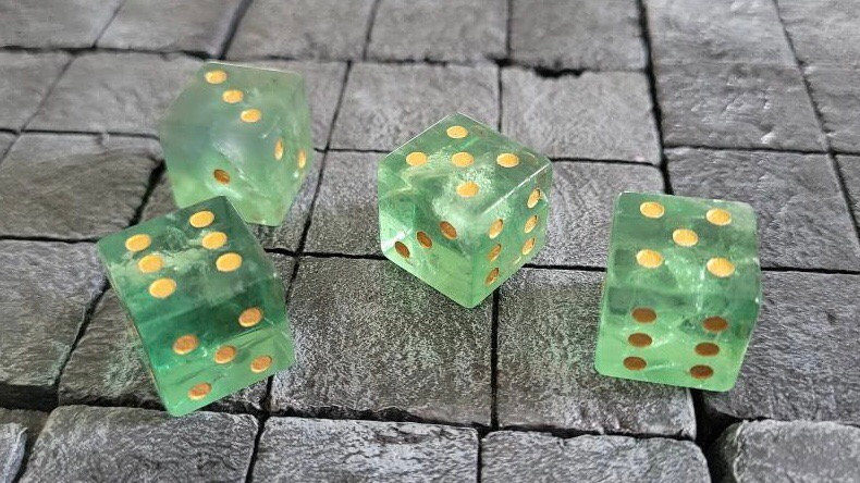 Special Edition Green Fluorite Gemstone Dice Set(Pre-Order)