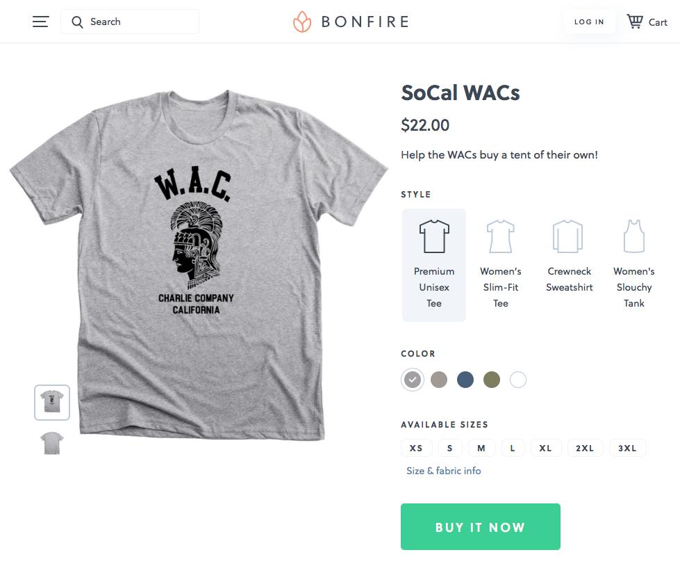 www.bonfire.com/socal-wacs