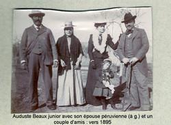 Auguste Beaux, son épouse, des amis