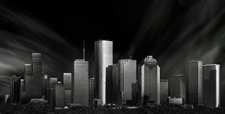 Houston skyline from Sawyer Yards