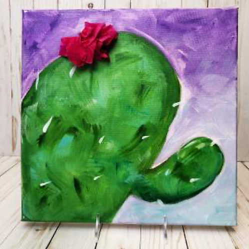 Lone-Limb Cactus Canvas